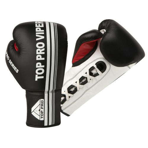 Top Pro Viper Pro Laced Boxing Gloves - Black